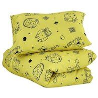 mezoome有機棉床組(枕頭套+被套) 芥末黃