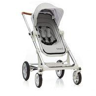 丹麥Seed - Papilio頂級嬰兒推車 (銀車架+灰座椅)