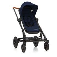 丹麥Seed - Papilio頂級嬰兒推車 (黑車架+藍座椅)