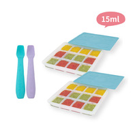 2angels矽膠副食品製冰盒(2組) + 餵食湯匙