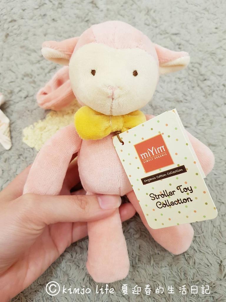 miYim有機棉吊掛娃娃 亮寶羊羊,彌月禮物推薦
