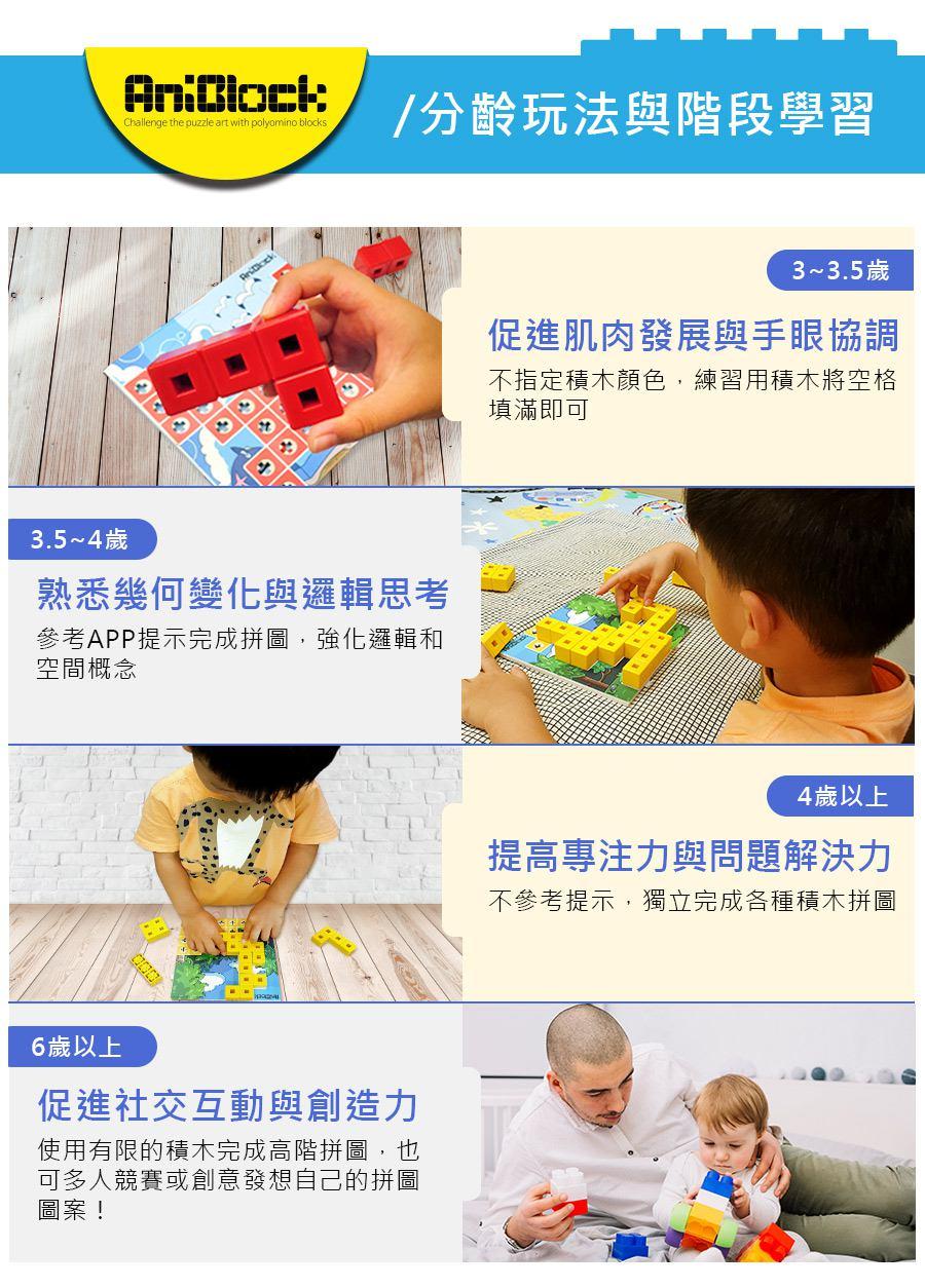 AniBlock安尼博樂 AR積木拼圖 各年齡層玩法介紹和階段學習目的