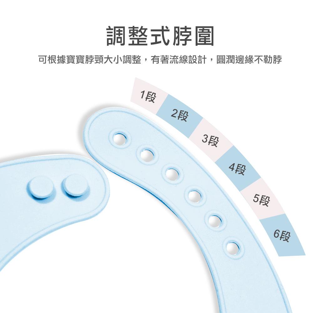 韓國BAILEY貝睿 矽膠圍兜餐墊禮盒(藍色)